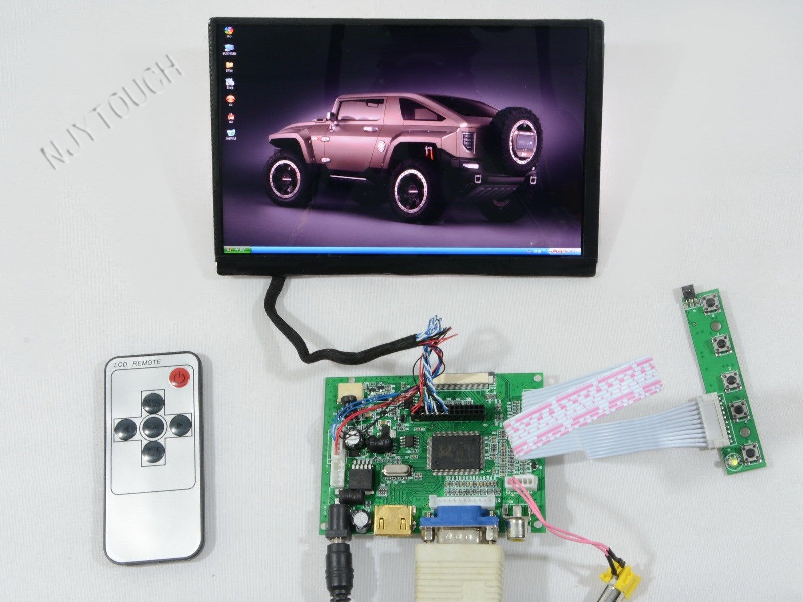 7 inch CHIMEI LED N070ICG-LD1 1280X800 IPS Screen+HDMI+VGA+2AV+Remote Controller