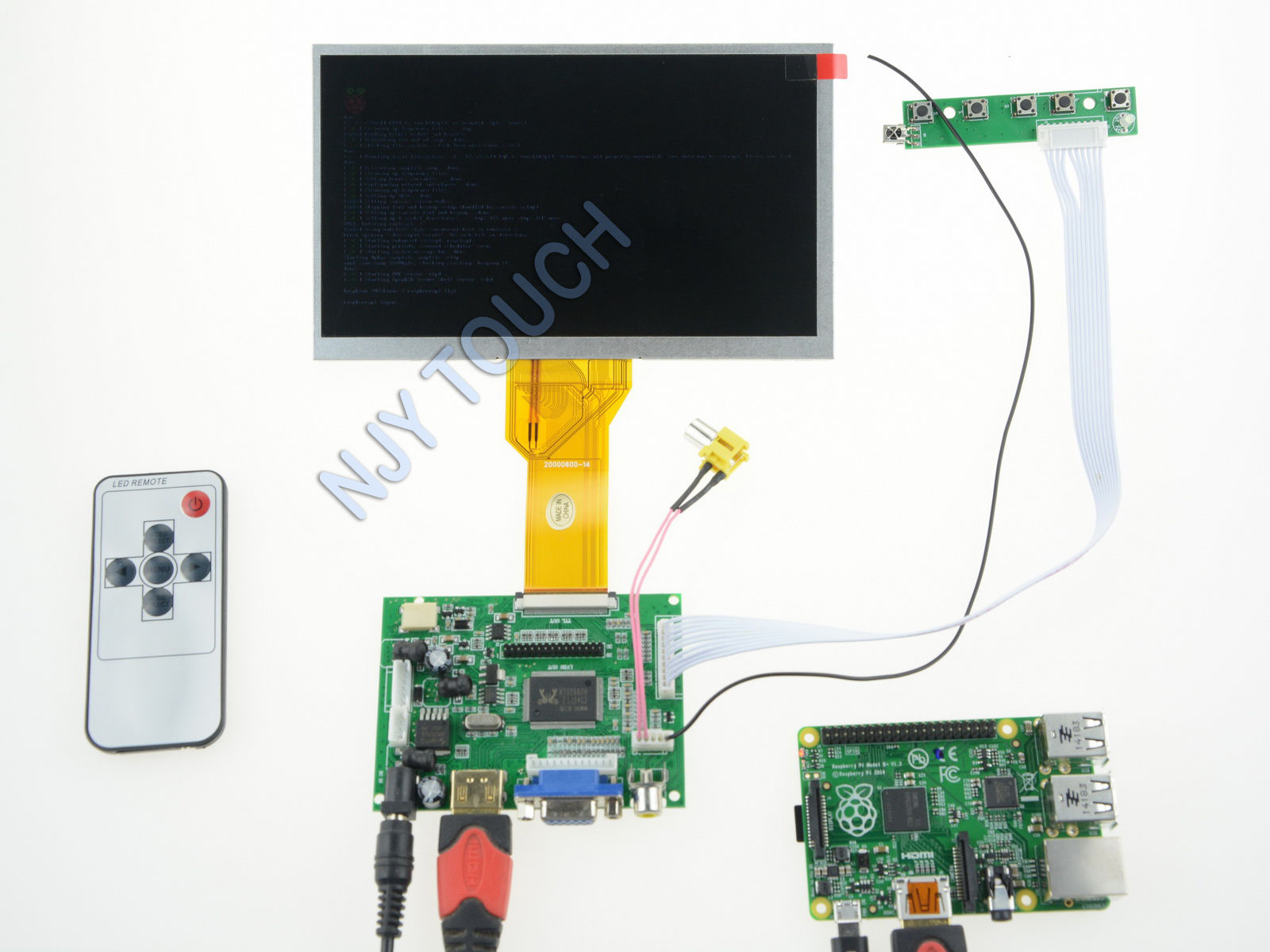 7 inch TFT INNOLUX AT070TN92 50 Pin LCD Screen 800x480+Raspberry Pi +HDMI Controller