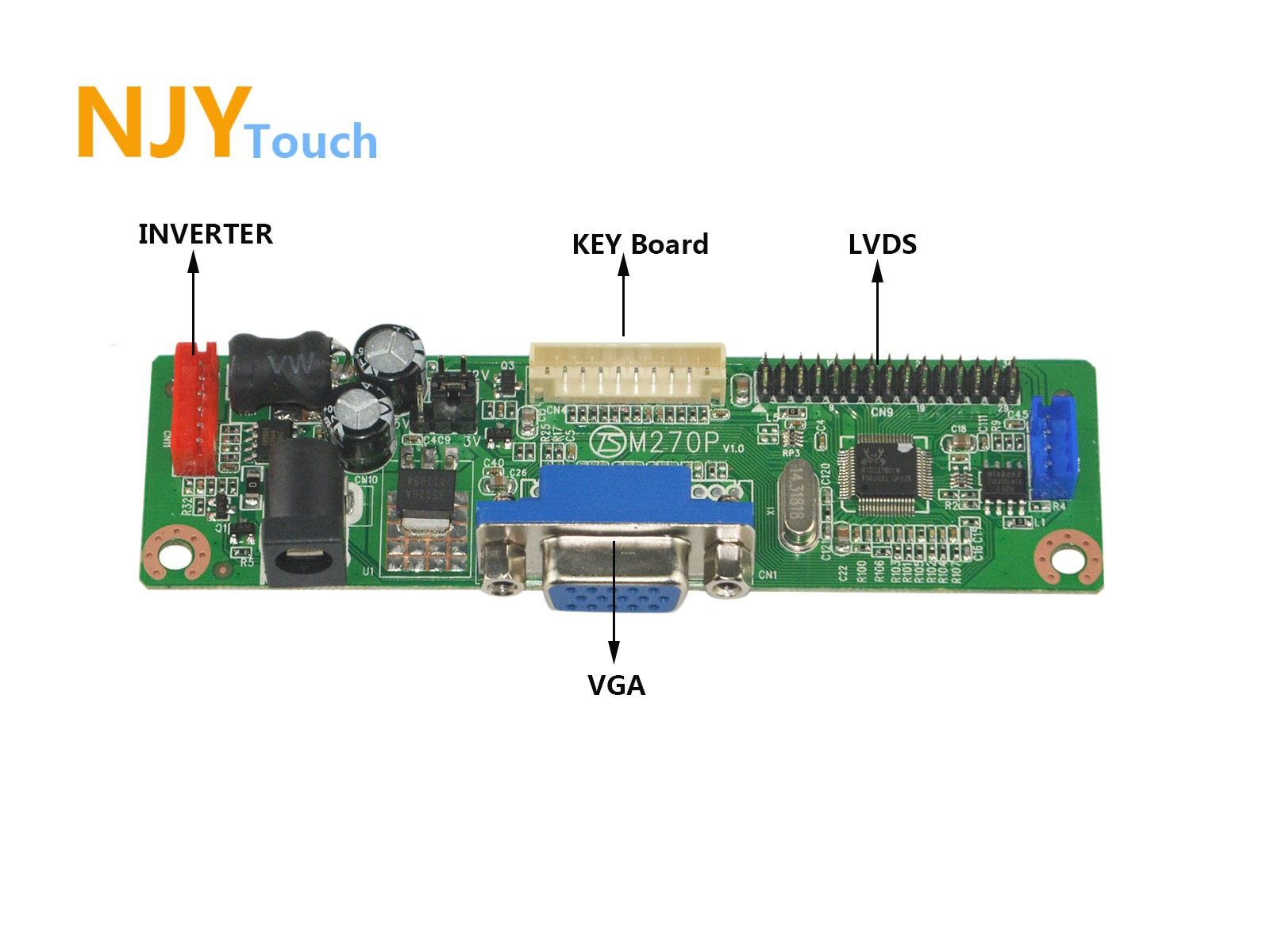 NJYTouch V.M70A VGA Driver Controller Board Kit For LP154W01 B154EW08 1280x800 LCD Screen