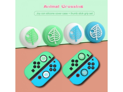 Joystick Thumb Grips Silicone Caps For Nintendo Switch Lite Animal Crossing
