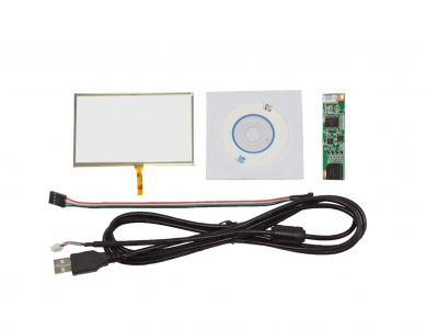 NJYTouch 6inch 4 Wire Resistive Touch Panel Glass 141 x 83mm With USB Controller Card Kit