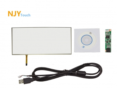 "NJYTouch 20"" 4 Wire Film to Film Touch Panel 462mm x 271mm With USB Controller Card Kit"