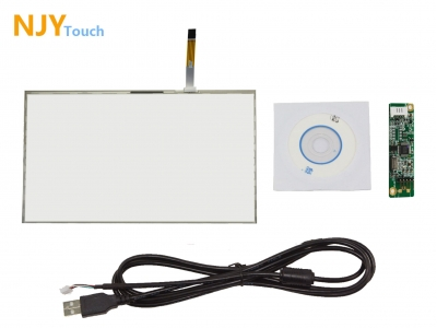 NJYTouch 19inch 5 Wire Resistive Touch Screen Panel 426 x 276mm 16:10 USB Controller Card