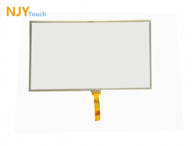 NJYTouch 5inch 4 Wire Resistive Touch Panel Glass 117mm x 70mm Handwriting Screen For GPS