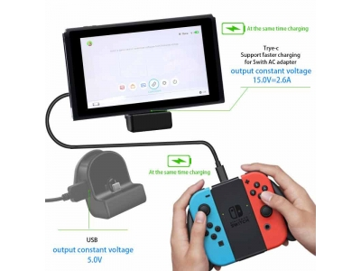 Type C Charger Dock Adjustable Stand Adapter Station For Nintendo Switch / Lite
