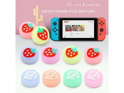 For Nintendo Switch NS Joy-con Glow Joystick Thumb Cap Silicone Button Cover