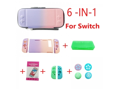 For Nintendo Switch Travel Carrying Bag Thumb Stick Grip Caps Protector Case