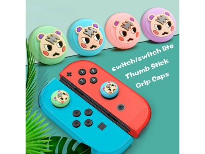 2x Joystick Thumb Grip Button Cap Silicone Cover For NS Nintendo Switch Lite Joy-Con